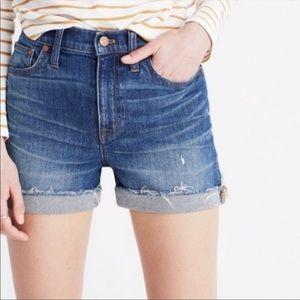 Madewell High Rise Cutoff Jean Shorts Size 26